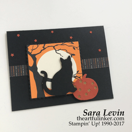 Simple Halloween Cat card from theartfulinker.com