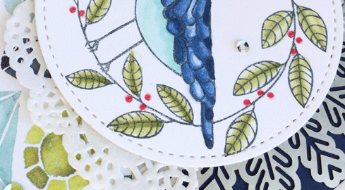 Cheery Chirps with Stampin' Blends from theartfulinker.com