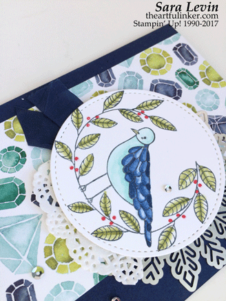 Cheery Chirps with Stampin' Blends - detail - from theartfulinker.com