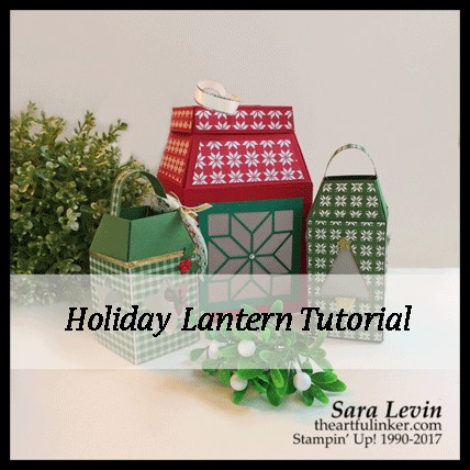 Holiday Lantern Tutorial from theartfulinker.com