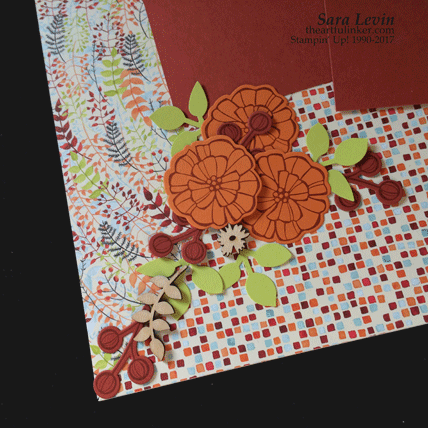 Painted Autumn scrapbook page one - detail - from theartfulinker.com