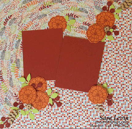 Painted Autumn scrapbook page 1 from theartfulinker.com
