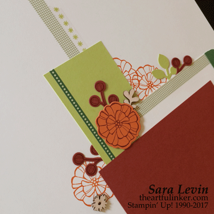 Painted Autumn scrapbook page two - detail - from theartfulinker.com