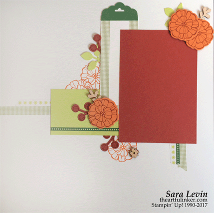 Painted Autumn scrapbook page 2 from theartfulinker.com