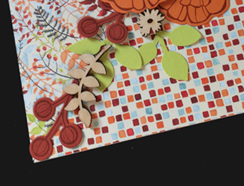 Painted Autumn Scrapbook Pages from theartfulinker.com