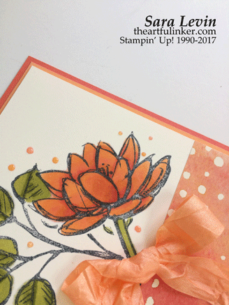 Stamping Sunday Blog Hop Painted Autumn with Remarkable You card - detail - from theartfulinker.com