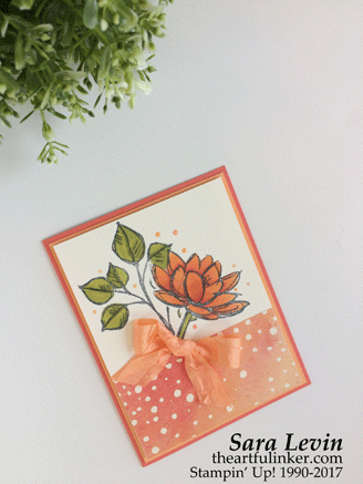 Stamping Sunday blog hop Painted Autumn with Remarkable You card from theartfulinker.com