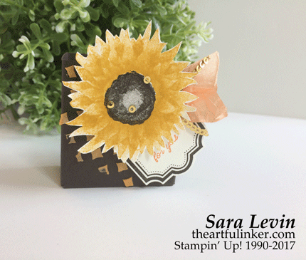 Painted Harvest Fall treat holder from theartfulinker.com