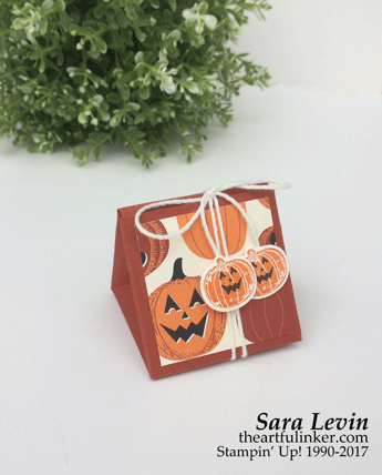 Pick a Pumpkin Triangle Treat Box from theartfulinker.com