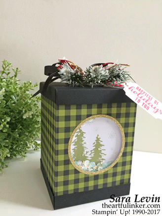 A Paper Pumpkin Thing Blog Hop Pining for Plaid Paper Pumpkin alternative gift box from theartfulinker.com