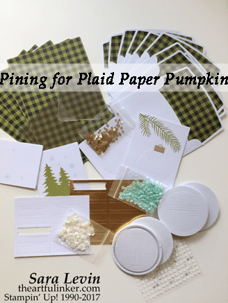 A Paper Pumpkin Thing Blog Hop Pining for Plaid Paper Pumpkin Kit, October 2017 contents from theartfulinker.com