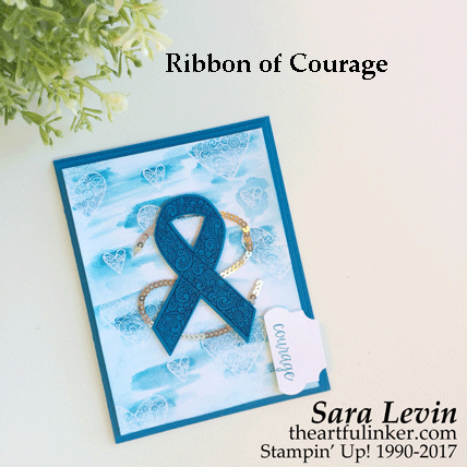ICS Blog Hop Ribbon of Courage card for Alopecia from theartfulinker.com