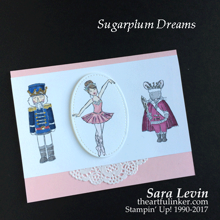 Sugarplum Dreams Nutcracker Suite card from theartfulinker.com