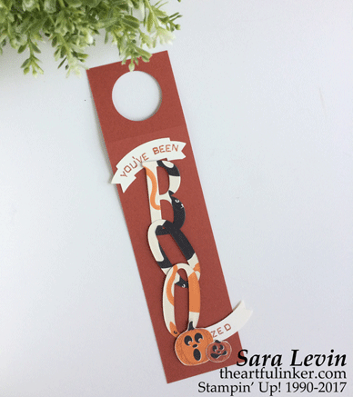 Halloween Wine Tag 1 with Spooky Night designer paper from theartfulinker.com