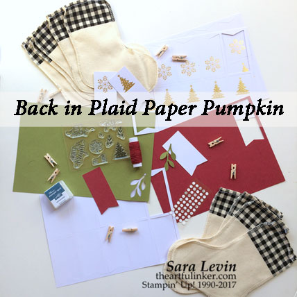 A Paper Pumpkin Thing Blog Hop Back in Plaid kit contents, November 2017 from theartfulinker.com