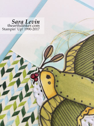 Cheery Chirps with Painted Autumn - detail 2 - from theartfulinker.com