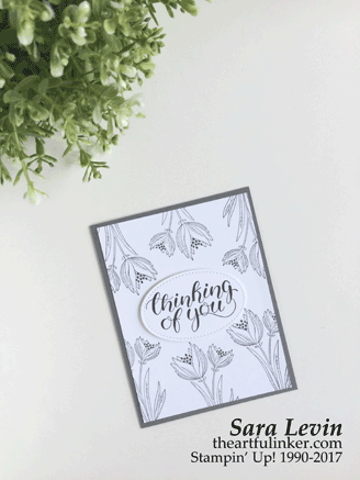 Count My Blessings Sympathy card from theartfulinker.com