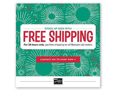 Cyber Monday Free Shipping on Stampin' Up! from theartfulinker.com
