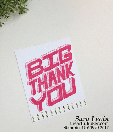Great Big Greetings Panel Card from theartfulinker.com