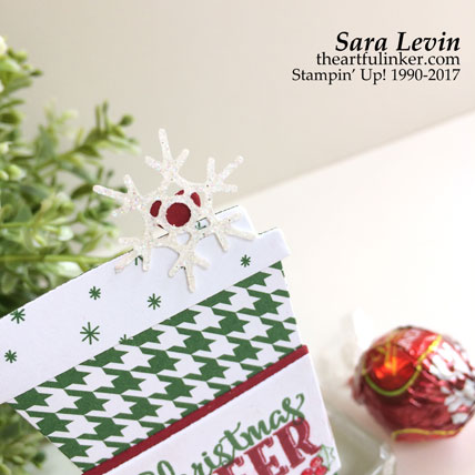 Merry Cafe Treat Box - top detail - from theartfulinker.com
