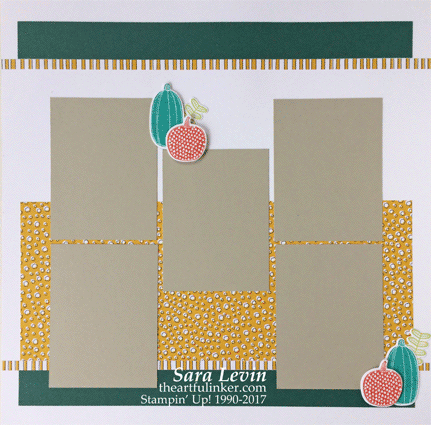 Pick a Pumpkin Scrapbook Layout page 1 from theartfulinker.com