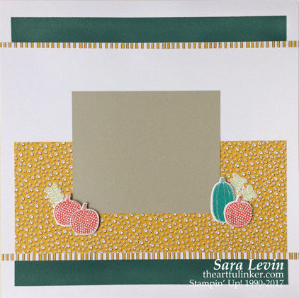 Pick a Pumpkin scrapbook layout page 2 from theartfulinker.com