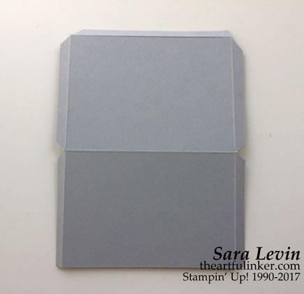 Stamping Sunday Blog Hop Snowflake Sentiments gift card holder scoring - from theartfulinker.com