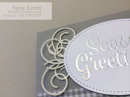 Stamping Sunday Blog Hop Snowflake Sentiments card - top detail - from theartfulinker.com