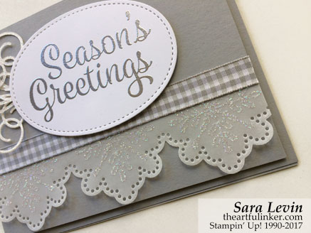 Stamping Sunday Blog Hop Snowflake Sentiments card - bottom detail - from theartfulinker.com