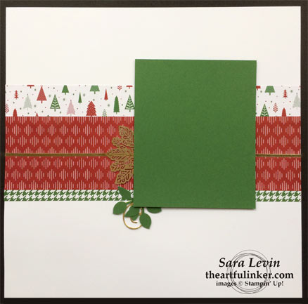 Be Merry Scrapbook page for Christmas from theartfulinker.com