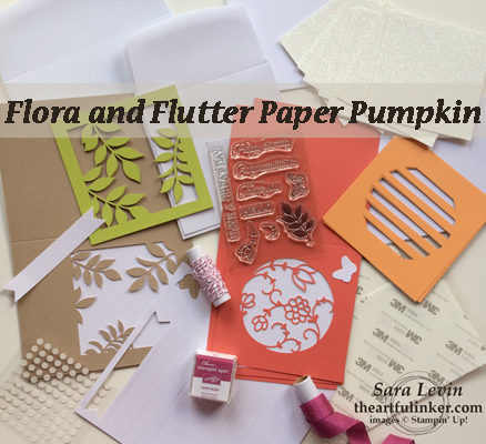 A Paper Pumpkin Thing Blog Hop Flora and Flutter, December, 2018 kit from theartfulinker.com