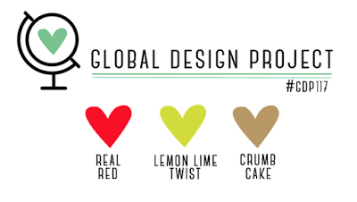 GDP117 color challenge - real red, lemon lime twist and crumb cake