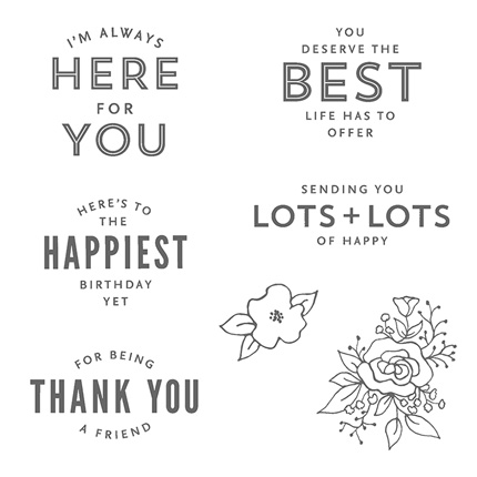 Lots of Happy card kit stamps from theartfulinker.com