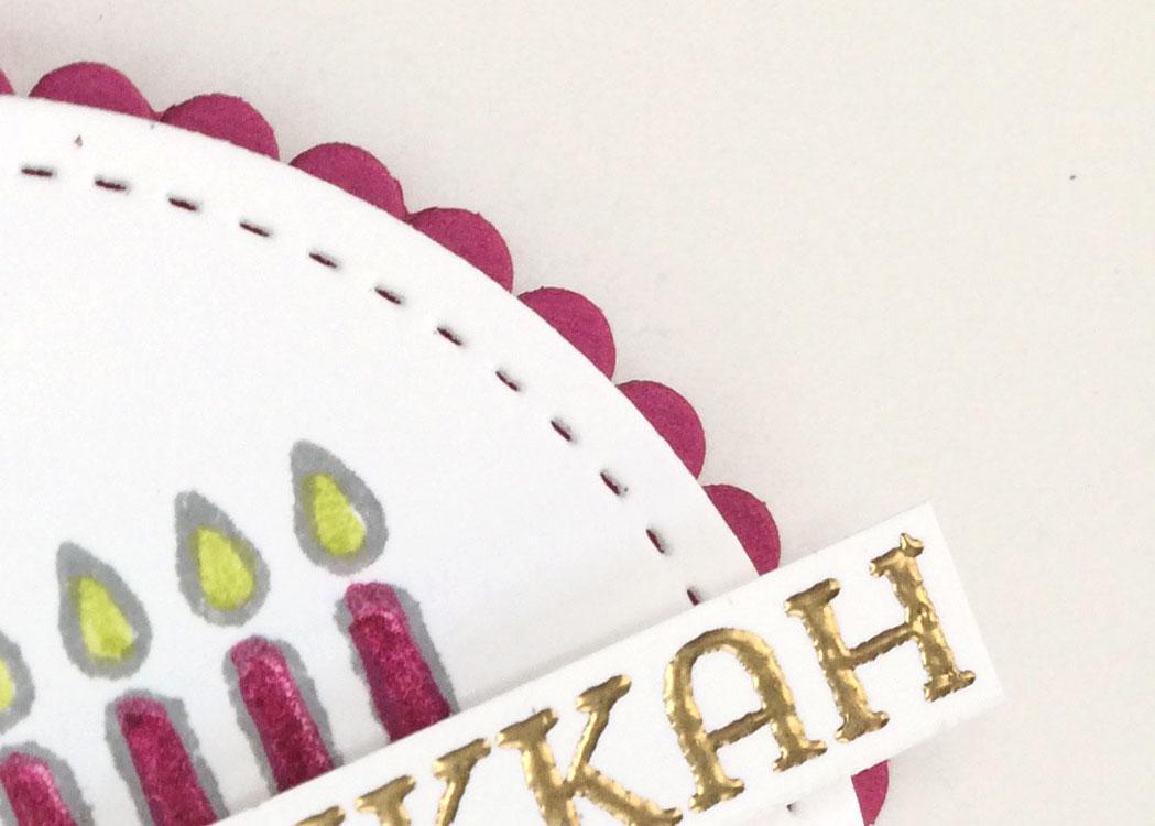 Seasonal Lantern Hanukkah Gift Tag from theartfulinker.com