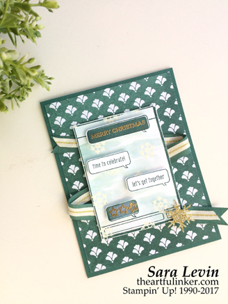 Text Ya Later with Santa's Sleigh card from theartfulinker.com