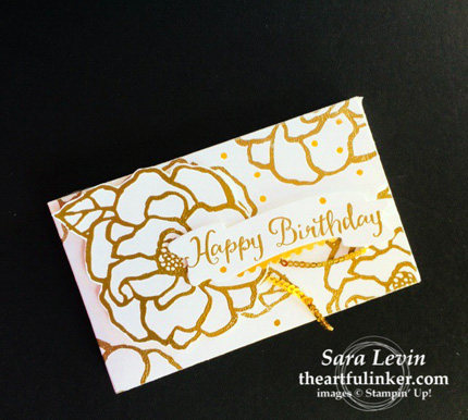 Beautiful Day Lots to Love box in gold from theartfulinker.com