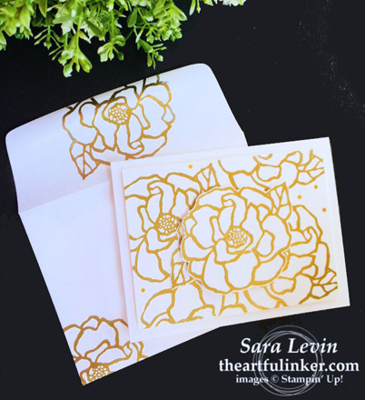 Beautiful Day card in gold from theartfulinker.com
