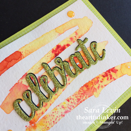 Creation Station blog hop color my world - celebrate you thinlits card detail - from theartfulinker.com