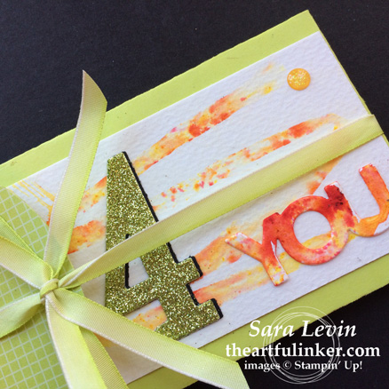 Creation Station blog hop color my world - Lots to Love Box gift card envelope detail from theartfulinker.com