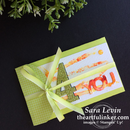 Creation Station blog hop color my world - Lots to Love Box gift card envelope from theartfulinker.com