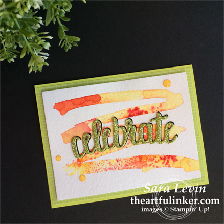 Creation Station blog hop color my world - celebrate you thinlits card from theartfulinker.com