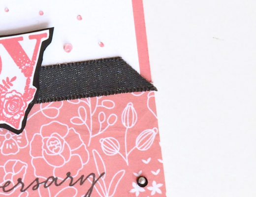 Happy Wishes card in Flirty Flamingo from theartfulinker.com