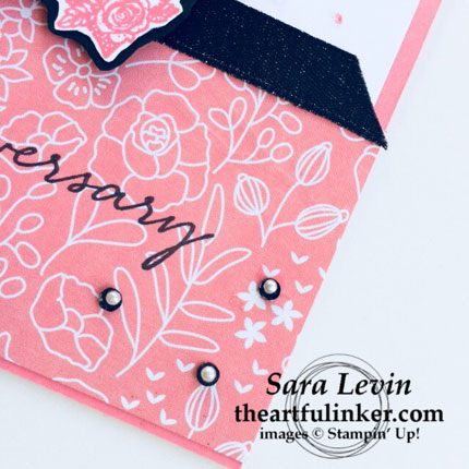 OSAT blog hop Sale a Brate the Occasion Happy Wishes card - bottom detail - from theartfulinker.com