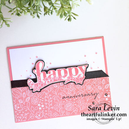 OSAT blog hop Sale a Brate the Occasion with Happy Wishes card in Flirty Flamingo from theartfulinker.com
