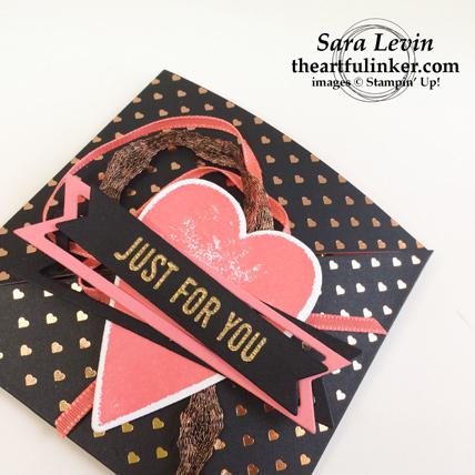 Heartfelt Love Notes Treat Holder for Valentines Day - detail - from theartfulinker.com