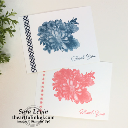 Heartfelt Blooms Fast Friday cards with washi from theartfulinker.com