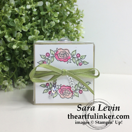 Stamping Sunday Blog Hop Favorite - Lots of Lavender gift box from theartfulinker.com