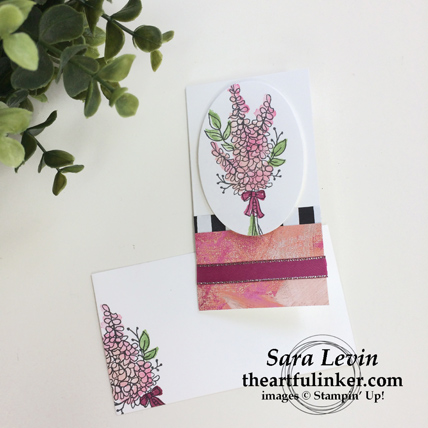 Stamping Sunday Blog Hop Sale a Bration Favorite - Lots of Lavender Narrow Note Cards from theartfulinker.com