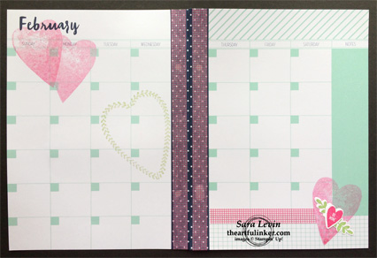Love Today Planner February 2018 calendar layout from theartfulinker.com