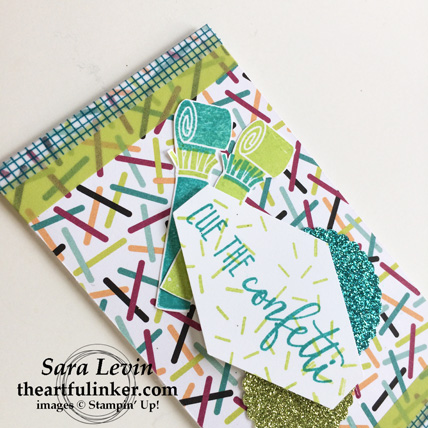 Picture Perfect Birthday Gift Card Holder - detail - from theartfulinker.com